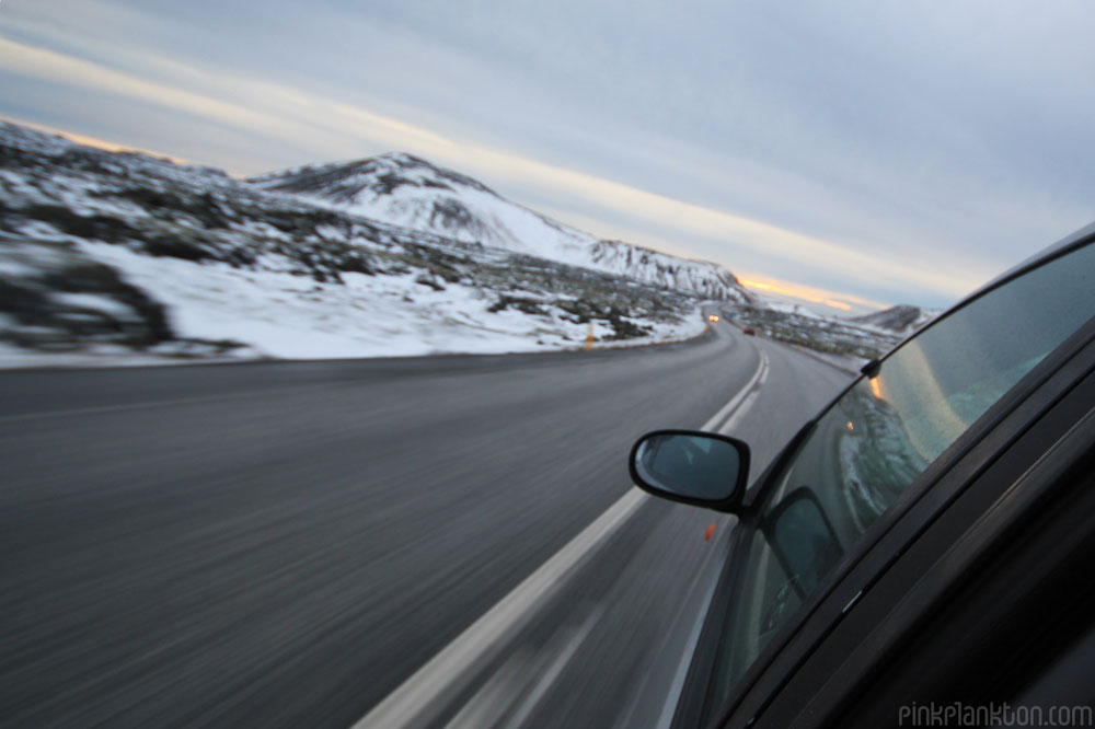 driving along Iceland