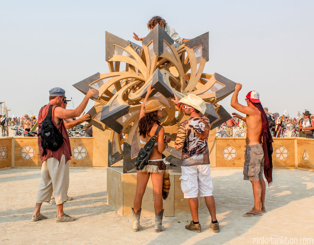 interactive art at Burning Man