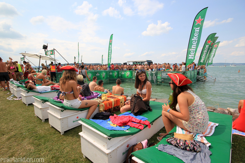 Heineken sponsorship at a festival