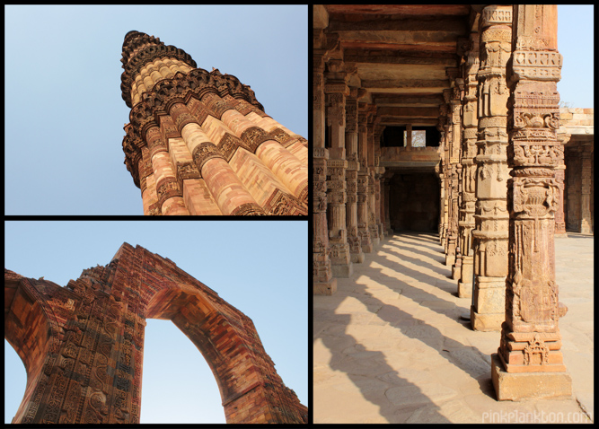 collage of Qutab Minar in New Delhi