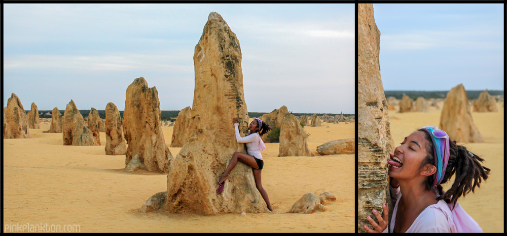 Collage of me and the Pinnacle Desert, Western Australia