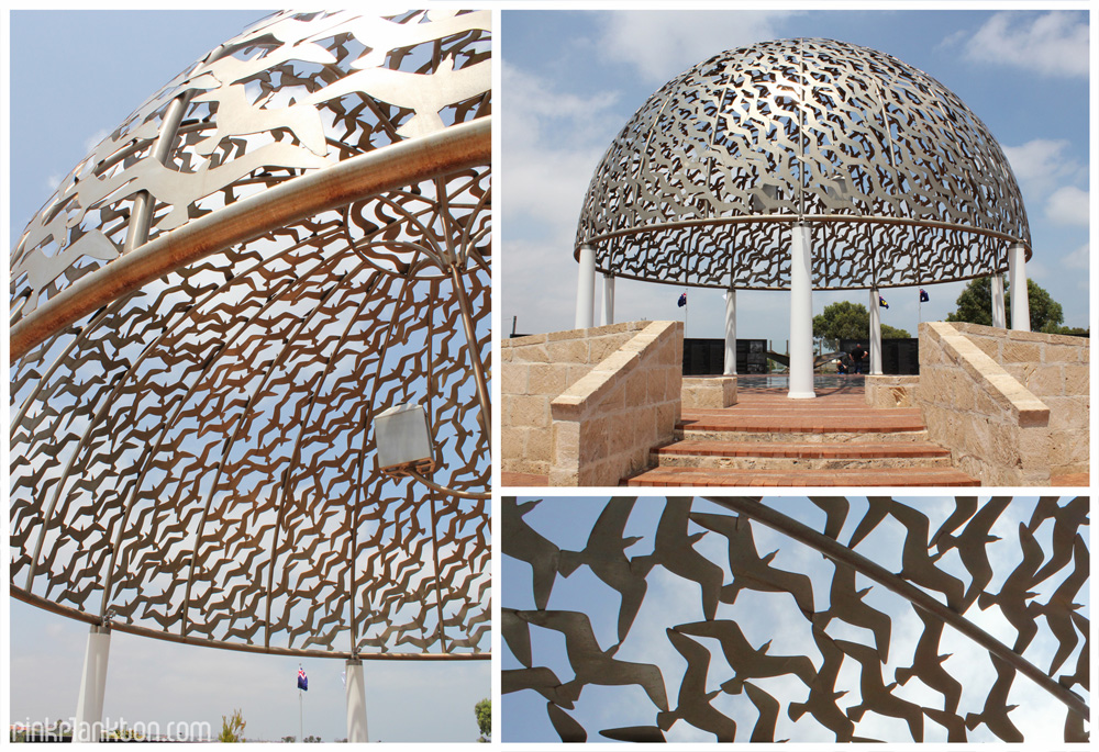 collage of HMAS Sydney II War Memorial in Geraldton, Australia