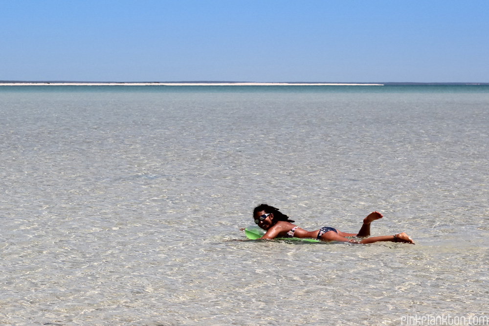 me wading in Turquoise Bay, Exmouth, Western Australia