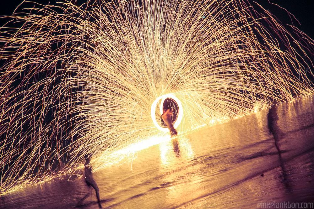 Steel Wool firespinner firespinning in Thailand
