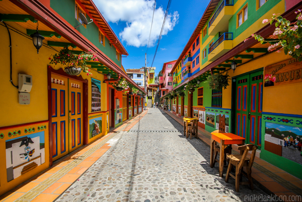 street in Guatape, Colombia
