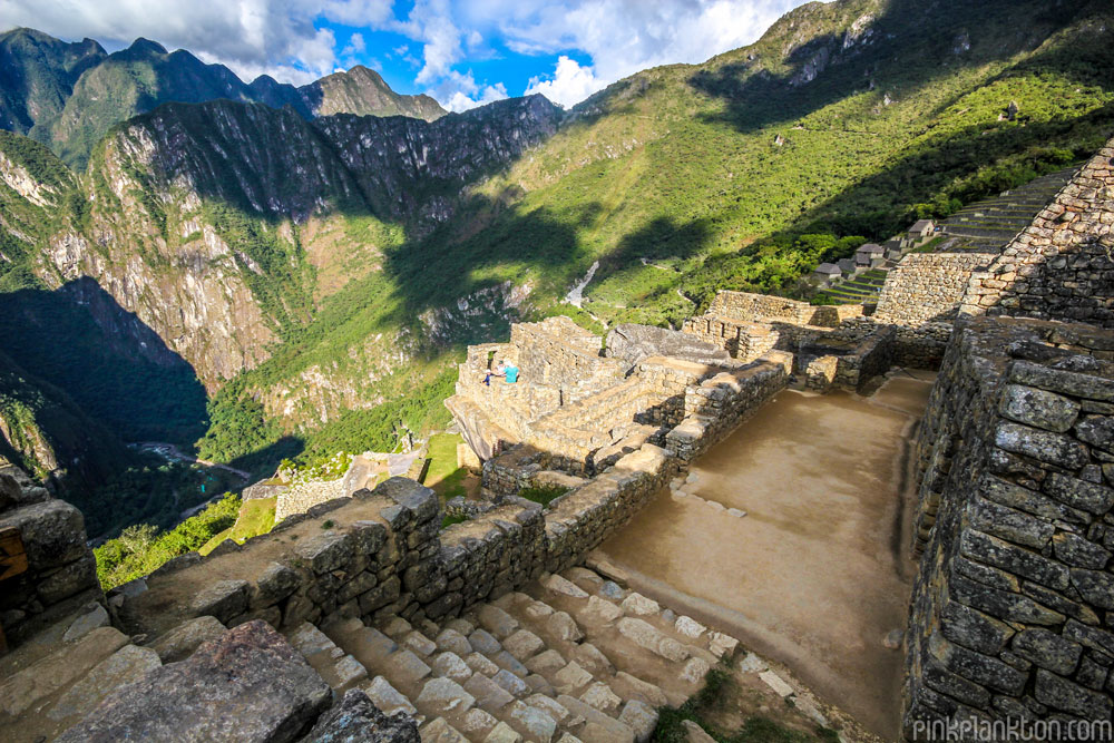 Machu Picchu mountains and staircase
