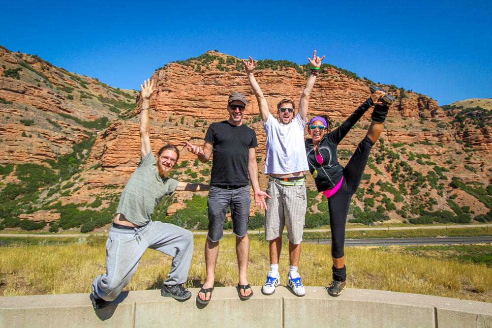 group of friends in Utah