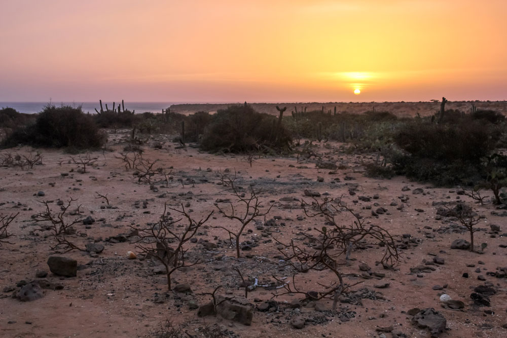 sunset at Punta Gallinas, Colombia