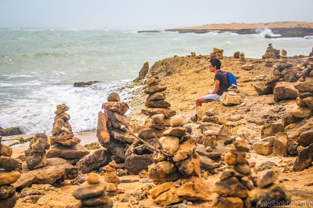 rock towers at Punta Gallinas, Colombia