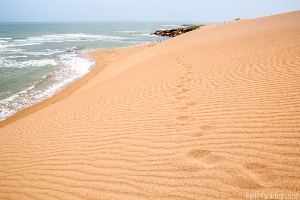 red sand dunes at Punta Gallinas, Colombia