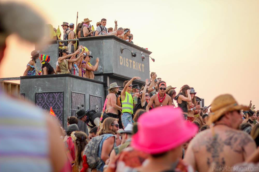 dance party at Distrikt, Burning Man