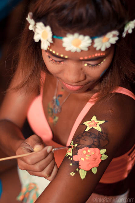 full moon party painting