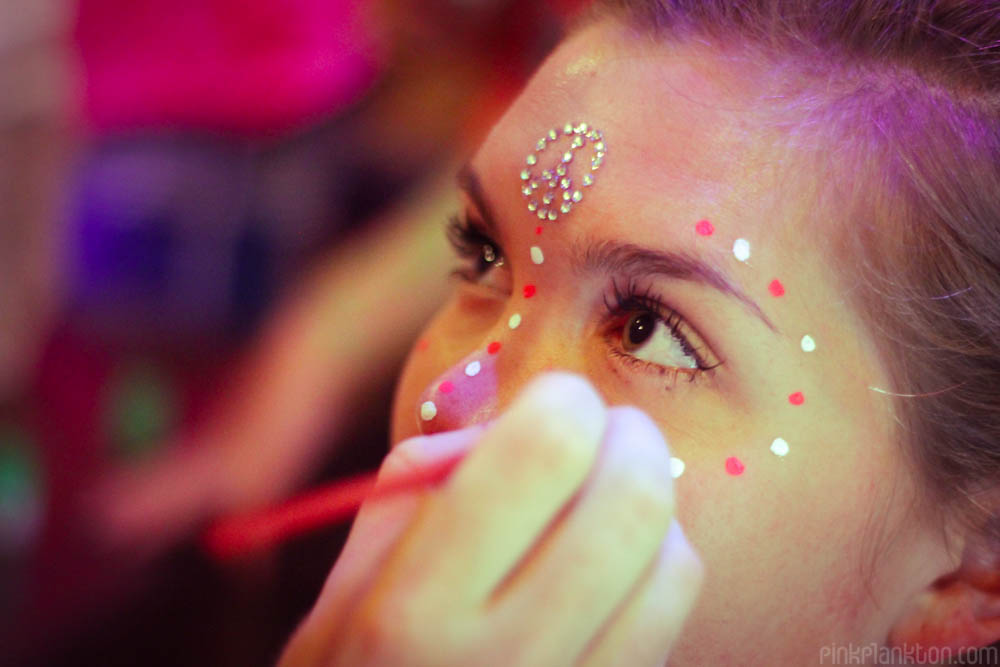 full moon party painting face