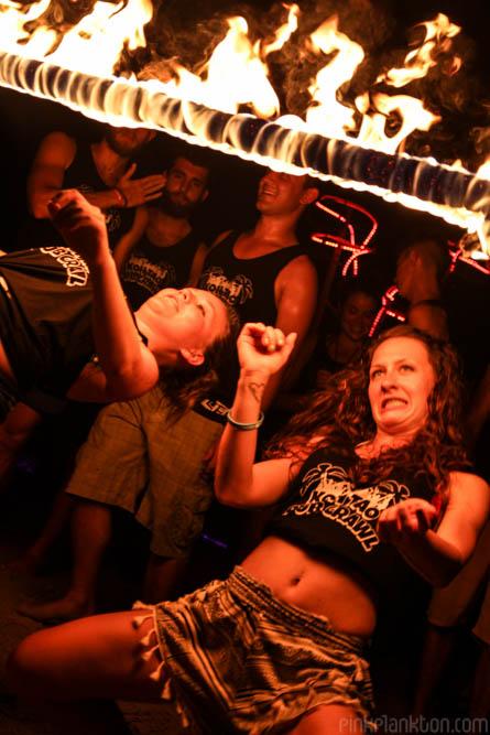 Koh Tao Pub Crawl fire limbo