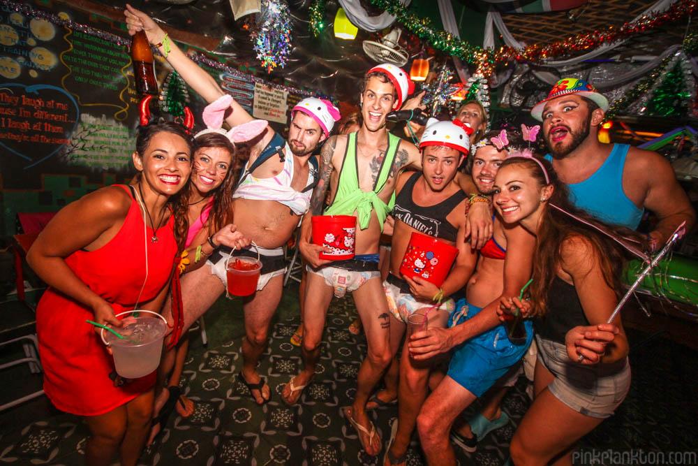 costume party at Sugar Member Bar in Kanchanaburi, Thailand