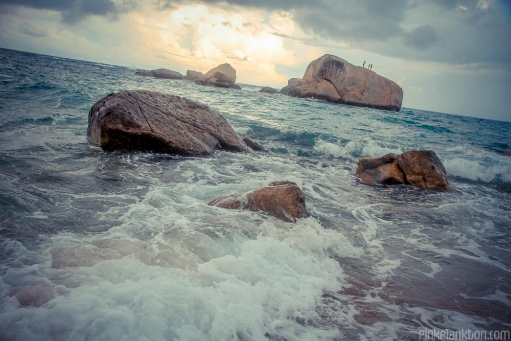 Tanote Bay rocks on Koh Tao, Thailand