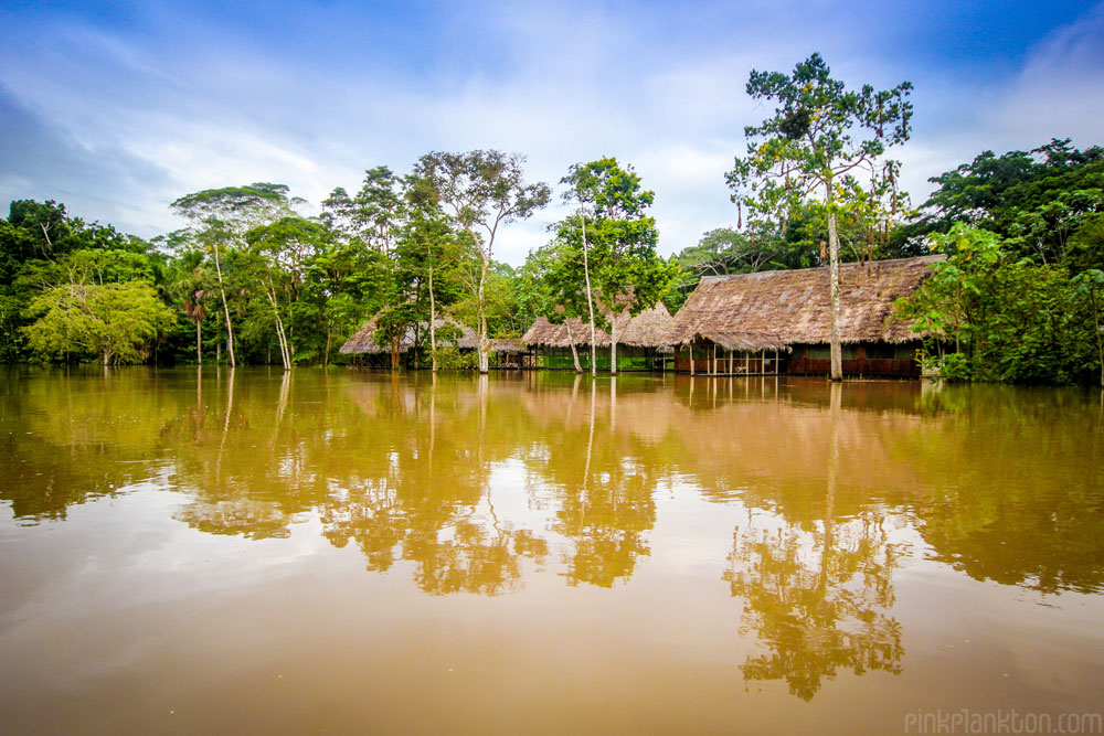 Amazon rainforest floating resort