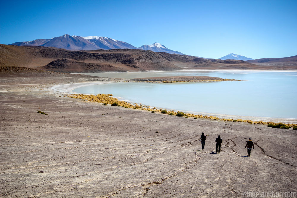 mountain and lagoon in Bolivia