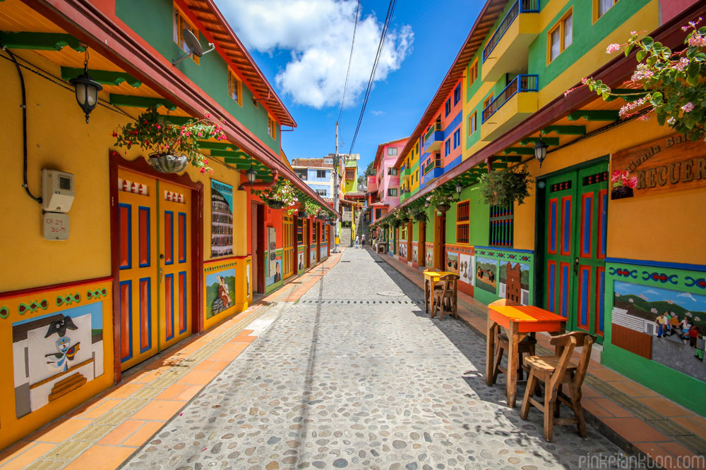 streets of Guatape, Colombia