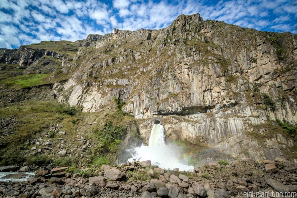 waterfall in mountain in Peru