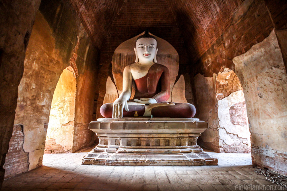 Buddha in temple in Bagan