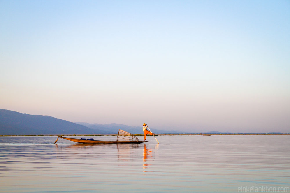 fisherman in Inle Lake