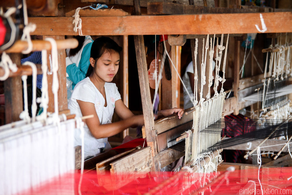 weaver in Inle Lake, Myanmar