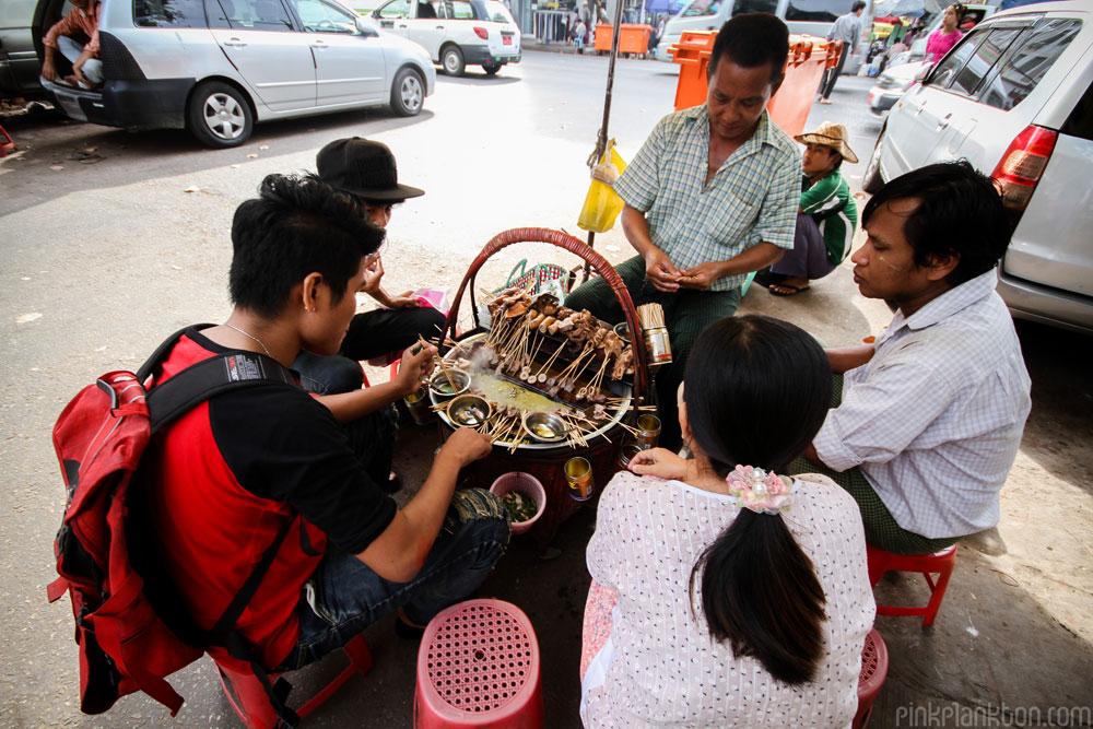 street food in Yangon, Myanmar