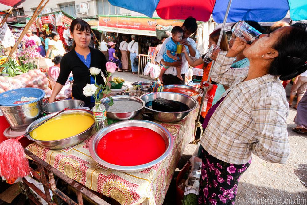 jelly street vendor in Myanmar