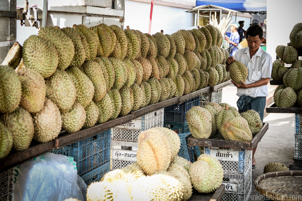 durian shop in Asia