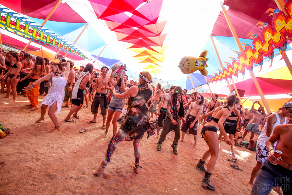 dance temple at Boom Festival
