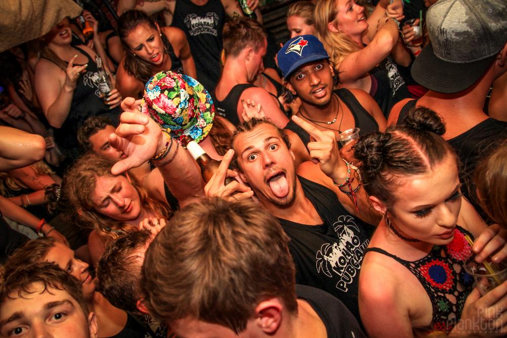 crowded dance floor in club