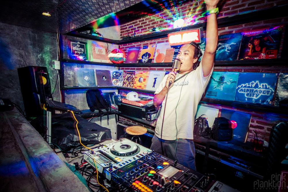 DJ at Bar Next Door in Bangkok