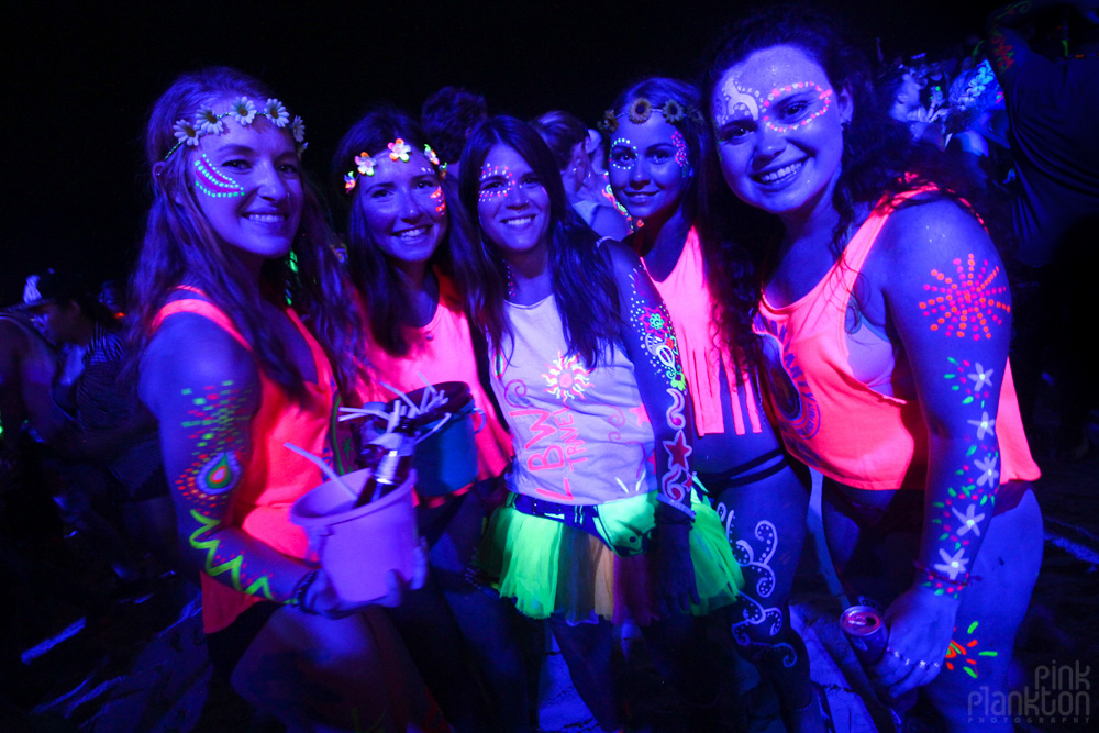 full moon party blacklight glow costumes