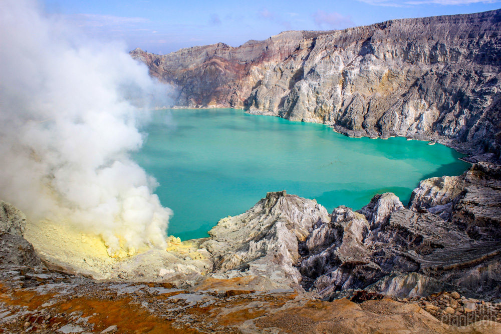 Kawah Ijen acid lake in Indonesia