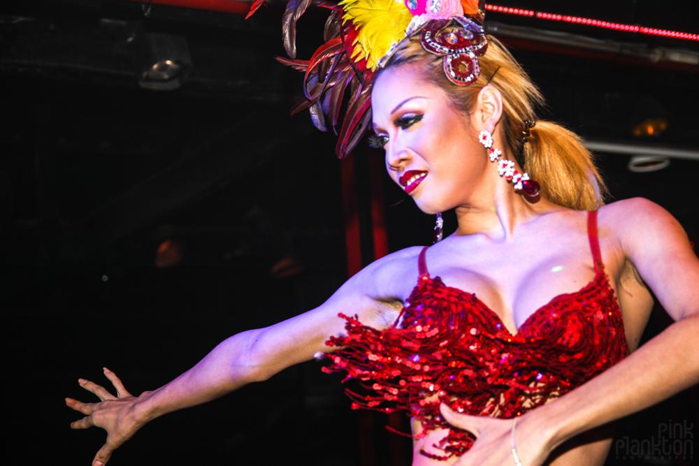 Queen's Cabaret ladyboy show in Koh Tao, Thailand