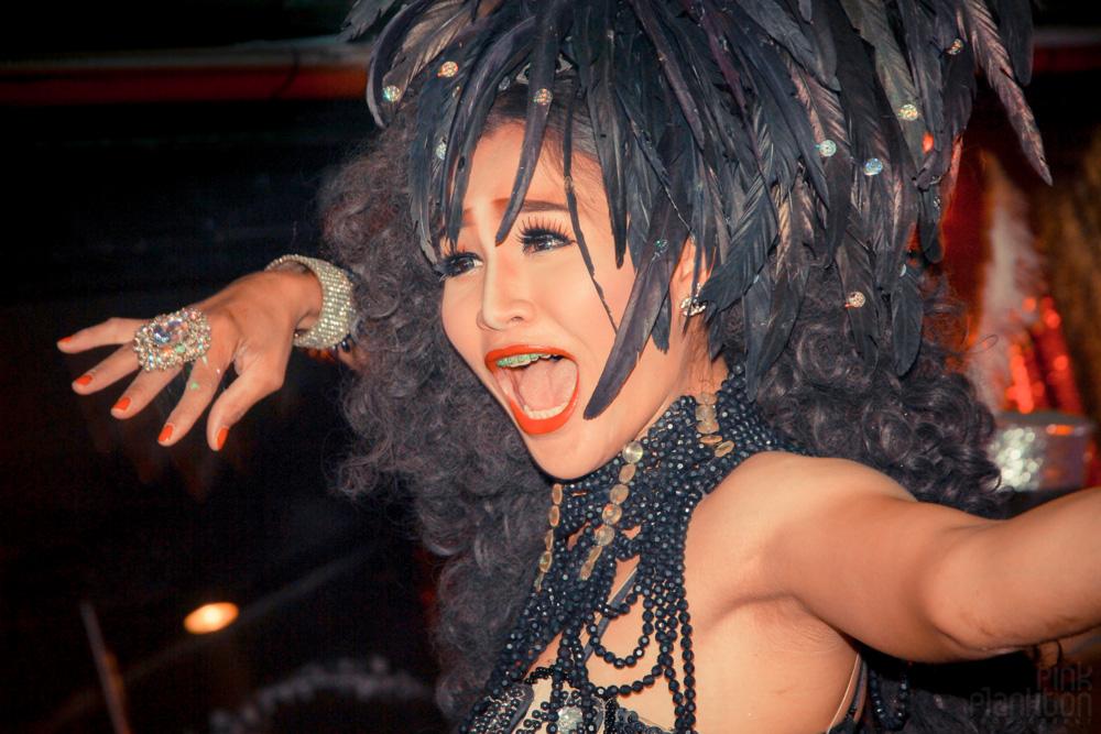 Queen's Cabaret ladyboy show in Koh Tao Thailand