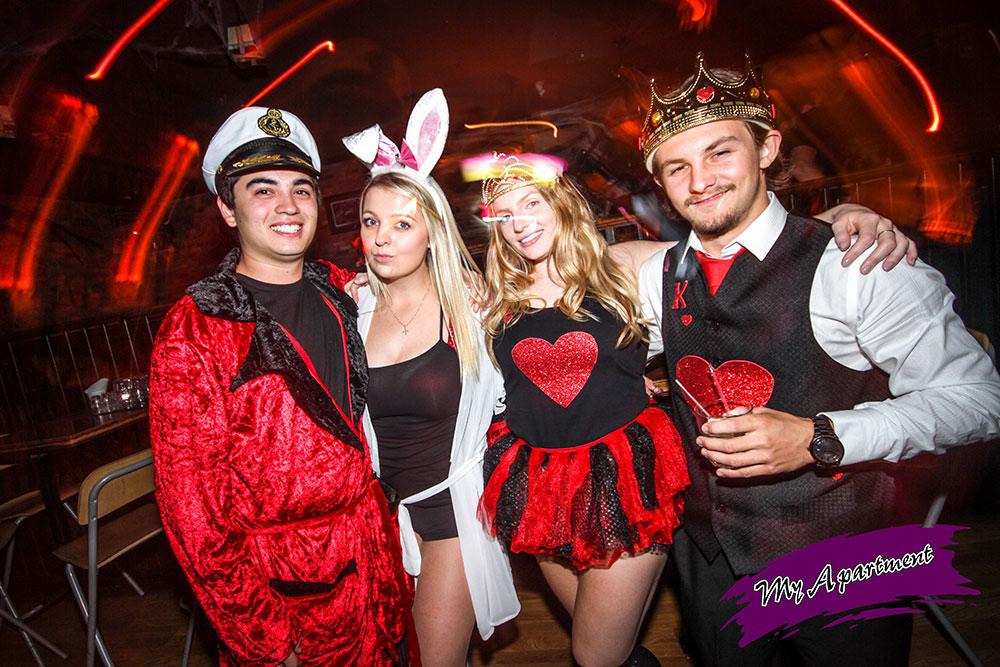 halloween costume party at nightclub my apartment