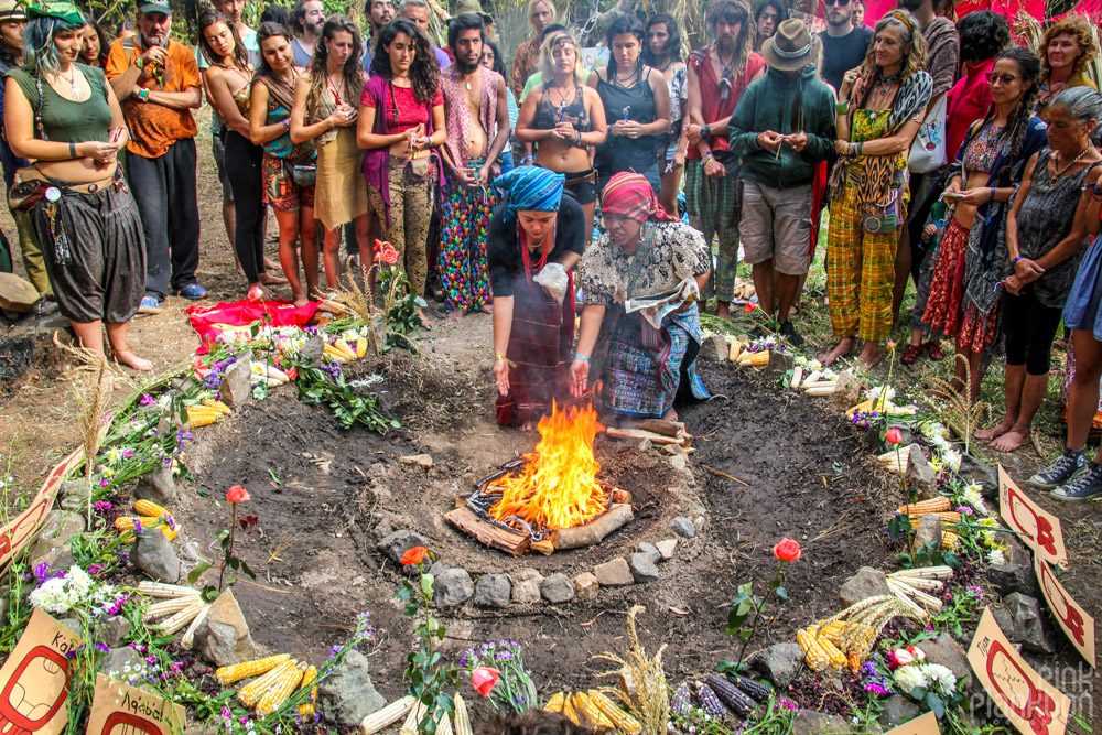 Cosmic Convergence Festival Guatemala opening ceremony fire