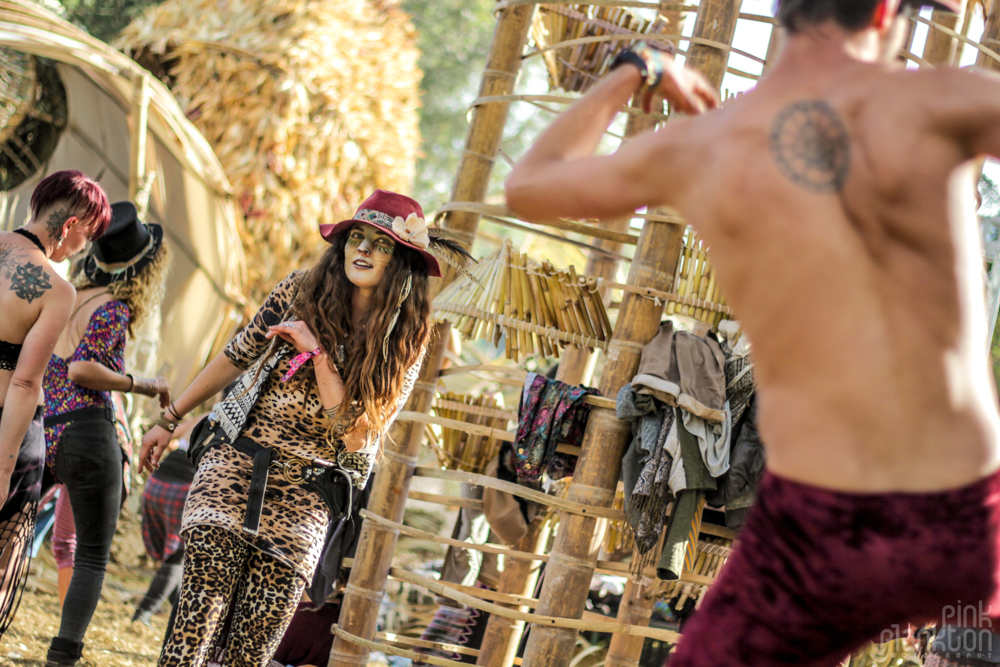 girl dressed at cat at Cosmic Convergence Festival dancefloor