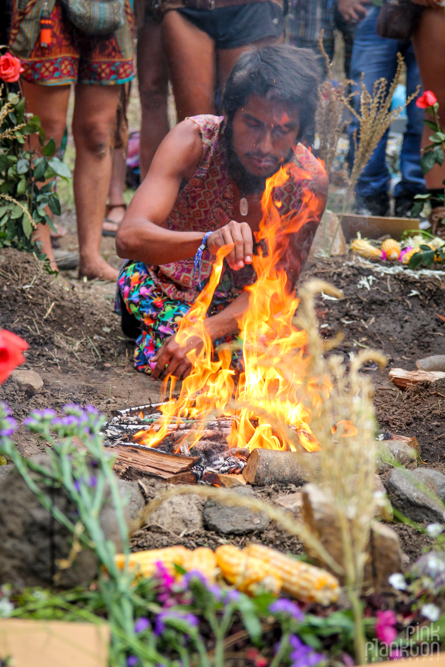 Cosmic Convergence Festival Guatemala opening ceremony fire