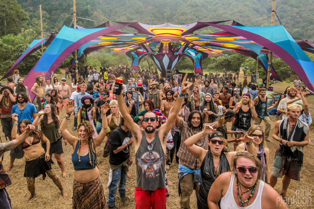 psytrance stage dancefloor at Cosmic Convergence Festival