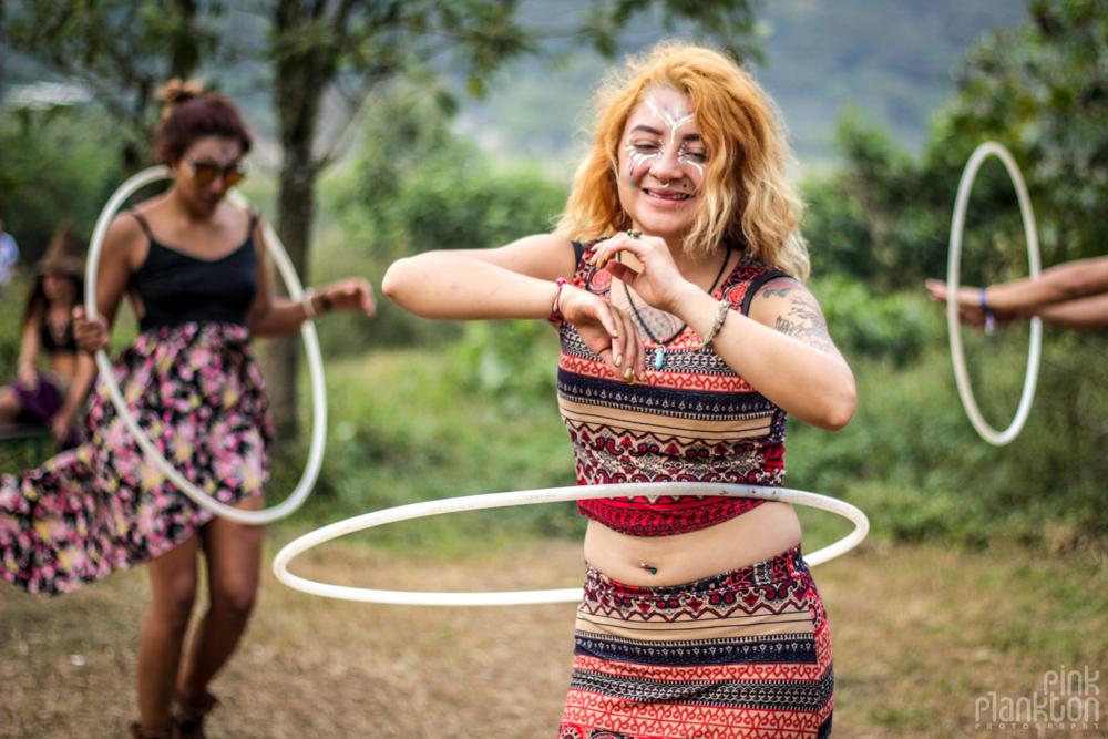 girl hula hooping at Cosmic Convergence Festival
