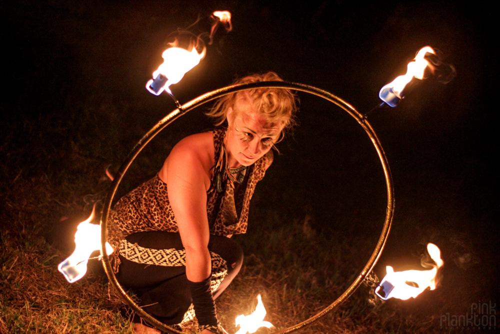 Cosmic Convergence Festival fire spinner poi