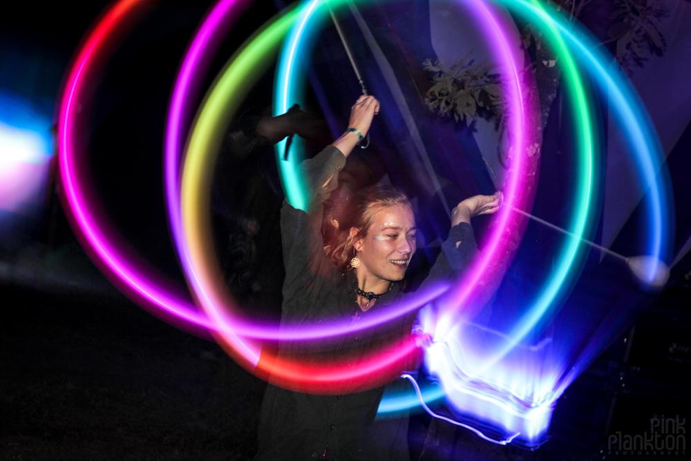 Cosmic Convergence Festival rainbow poi