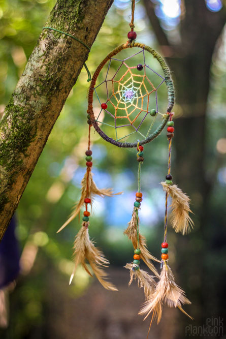 rainbow gathering dream catcher