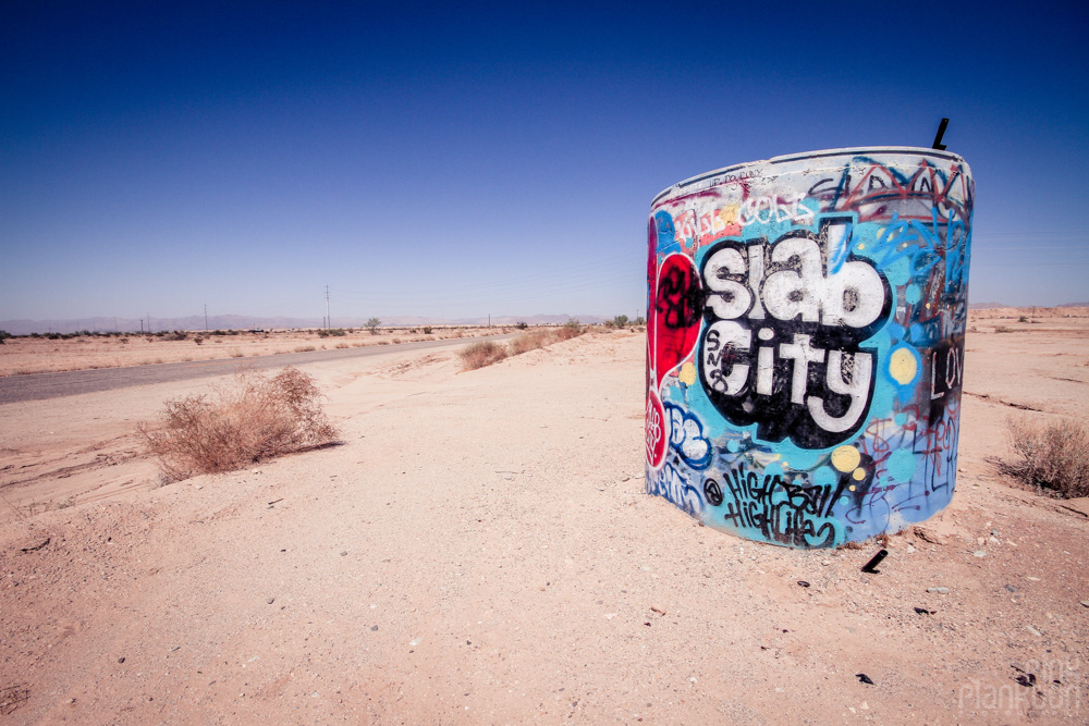 Slab City entrance barrack
