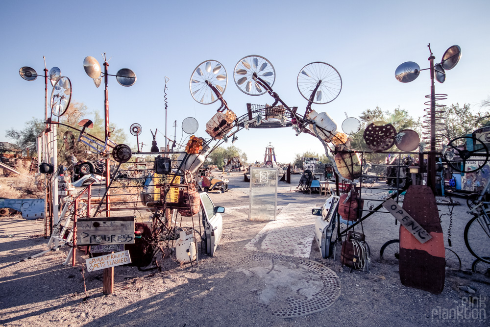 Slab City East Jesus entrance