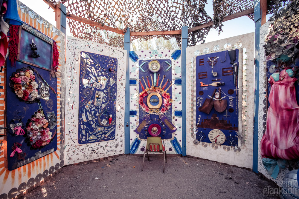 Slab City East Jesus art sculptures