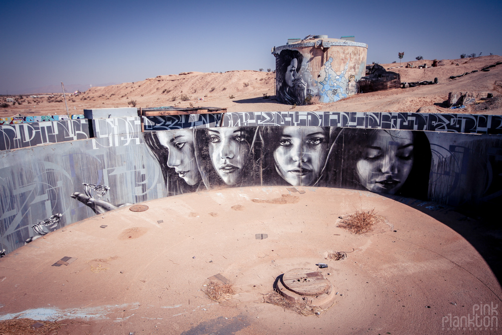 Slab City street art graffiti on military bunkers